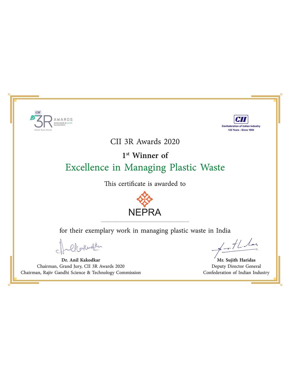 CII 3R Awards 2020